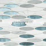 oval glass stone blend pebble mosaic