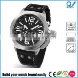 Build your watch brand easily multifuctional men 30 meters-100 meters water resistant stainless steel case china watch made