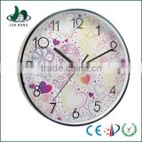 Unique natural world quartz movement round shape oriental wall clock
