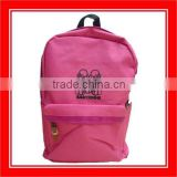 High Quality Products Bros Baby Rinne Sitting Printed 600D Pink Polyester Backpack With Zipper