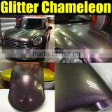 Factory wholesale chameleon glitter pearl vinyl film with air free bubbles 1.52*20m/Roll