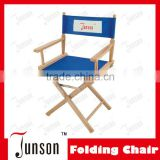 High Quality Foldable Armresting Director Chair/Wooden Armrest Canvas Folding Chair
