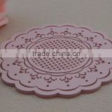 Round Flower soft felt Cup Mat Table Placemat Pad Drink Coffee Coaster Holder,colors assorted