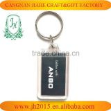 custom paper insert key ring rectangle clear acrylic key ring cheap promotional gift keyring