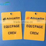 Plastic Single Card Crew Luggage Tags