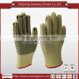SEEWAY Para-aramid knitted Cut Resistant Gloves with PVC Dots Dipped Palm for Superior Anti-skid When Holding and Moving objects