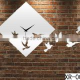 home decoration Birds diy mirror wall sticker clock
