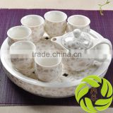 Family kitchen teaware with gift package and porcelain teapot ceramic teaset teacup and clay tea tray