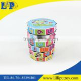 Educational plastic cylinder magic cube toy