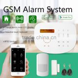 Touch panel LCD screen multi-languages wireless GSM alarm system GS-S2G fire alarm system