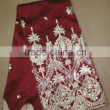 Hot sale girl flower lace george fabric indian fashion george fabric african george fabric for garments
