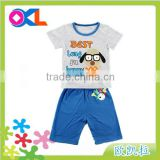 Hot selling high level new design delicated appearance boy t-shirt and pant