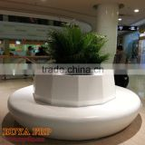 Factory custom made large mall hotel airport club multiple shop flowerpots chair decoration fiberglass leisure round seat