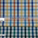 stock/ready bulk woven yarn dyed 50S/40S Cotton yarn dyed plaid/checker fabric