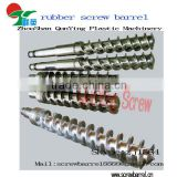 Pin-cold feed rubber extruder screw screw and barrel for extruder rubber processing machine
