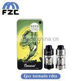 Wholesale new products 100% Original Ijoy Tornado RDTA 300watt High atomizer with 5ML Two Post Deck in 2016