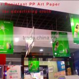 High Quality Waterproof PP art Paper