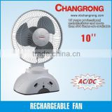 Solar fan 6V rechargeable table fan/desk fan with light CR-1037