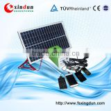 price portable home use 10W poly panel 7ah 12V led light kits solar power system for home