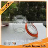 380ml Cheap Glass Storage Jar With Clamp Cap