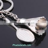 Wholesale Fashion Alloy Jewelry Accessories Couple Badminton Keychain PB-KC042