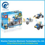 New Police series 3 in 1 car model ABS plastic children building blocks construction brick toys