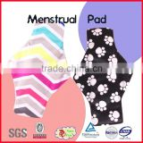 new style 100% cotton happy flute menstrual pad wholseale reusable nursing pad/sanitary napkin                                                                         Quality Choice