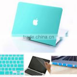 4in1 Tifany Blue Matt Rubberized Hard Case For Macbook Air Pro Retina 11'' 13'' 15''
