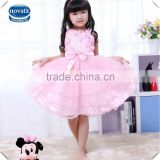 ( TM1002) 120-150cm pink nova kids clothing wholesale baby summer wedding girls dresses children tutu dresses party wear