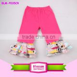 2016 Hot New Arrival Kids Korean Feather Pattern Harem Pants Baby Girls Cool Long Pants