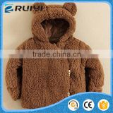 Best selling unisex Lamb coral fleece coat for children's clothing winter fake fur loose coat