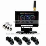 DIY TPMS: AVE Color LCD Wireless TPMS for Car+Trailer/ Motorhome/ Camper / Bus 4x4/ AVE-T1008P Tyre Pressure Monitoring System