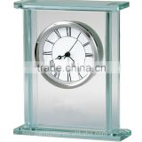 Glass And Metal Gift Mantel Alarm Clock Gift Clock