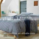 100% Cotton Dyed-Yarn Jersey BedLinen (Pillowcase, Quit Cover and Fitted Sheet)