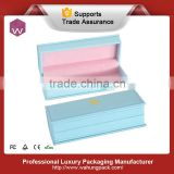 Light Blue Custom Hot Stamping Logo Pu Leather Gift Box For Pen Packaging