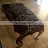brown color tea table, ceramic digital print glass, hot bent glass, special shape processing