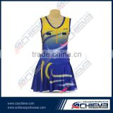 Blue ladies athletic 100% polyester tennis clothes/netball dresses