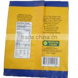 banana chip back seal packaging bag