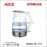 Glass electric kettles with LED