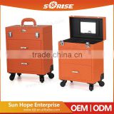 Sunrise PVC leather 2 Drawers Salon Hairdressing Case High Quality Diamond Make Up Beauty Case