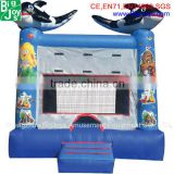 China cheap mini commercial inflatable bouncer house air jumping bouncy castle bounce house with slide for sale