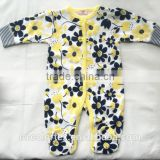 new style baby girls romper long sleeve infant floral romper