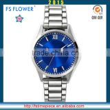 FS FLOWER - Men Watch Fashion Quartz Movt Japan Movt Quartz Watch Stainless Steel Back Water Resistant Watch