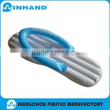 2016 fashion hawaii eco friendly blue/red flip flop pvc inflatable float lounger ,pool mattress,