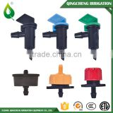 Plastic adjustable pressure compensating water drip emitter irrigation dripper