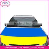 high quality heat transfer printing waterproof elastic custom national flag car engine hood cover for cheering