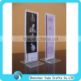 Customize acrylic 2x6 photo frame acrylic photo booth strip frame acrylic 2 sided picture frame