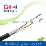 Two pairs telephone cable CCA 305m PASS Fluke TEST OUTDOOR CE RoHS CCC TLC ISO9001 TUV SGS