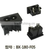 IEC 320 C8 2 pin AC power industrial inlet electrical socket BX-180-F