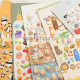 Colorful custom stickers,bubble home sticker,print wall/kitchen stickers,cartoon animals stickers for kids